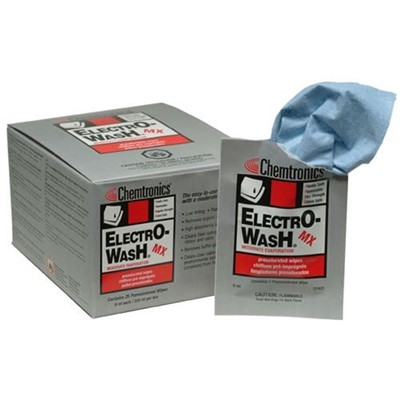"Chemtronics CP421 - Electro-Wash MX Presaturated Wipe - 8"" x 10"" - 8 Boxes/Case"