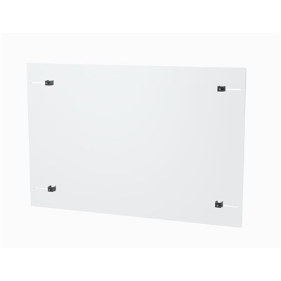 "InterMetro Industries CRDD9971-2436 - Clear Shield w/Broom Clips - PVC - 24"" x 36"" x 3mm Thick"