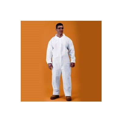 Keystone Safety CVL-KG-3XL - KeyGuard (Microporous) Coverall - Zipper Front - Open Wrists & Ankles - Cleanroom Class 5 - 3X-Large - White - 25/Case