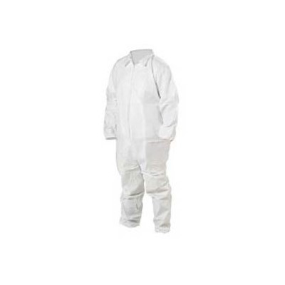 Keystone Safety CVL-KG-E-MD - KeyGuard (Microporous) Coverall - Zipper Front - Elastic Wrists & Ankles - Cleanroom Class 5 - Medium - White - 25/Case