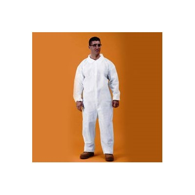 Keystone Safety CVL-KG-SM - KeyGuard (Microporous) Coverall - Zipper Front - Open Wrists & Ankles - Cleanroom Class 5 - Small - White - 25/Case