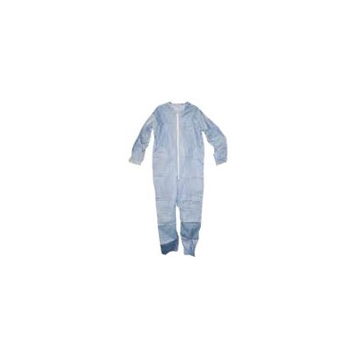 Keystone Safety CVL-NW-HD-E-BLUE-XL - Heavy-Duty Polypropylene Coverall - Zipper Front - Elastic Wrists & Ankles - Cleanroom Class 7 - X-Large - Blue - 25/Case