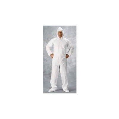 Keystone Safety CVL-NW-HD-HE-2XL - Heavy-Duty Polypropylene Coverall w/Attached Hood - Zipper Front - Elastic Wrists & Ankles - 2X-Large - White - 25/Case