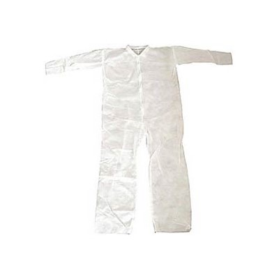 Keystone Safety CVL-NW-HD-LG - Heavy-Duty Polypropylene Coverall - Zipper Front - Open Wrists & Ankles - Cleanroom Class 7 - Large - White - 25/Case