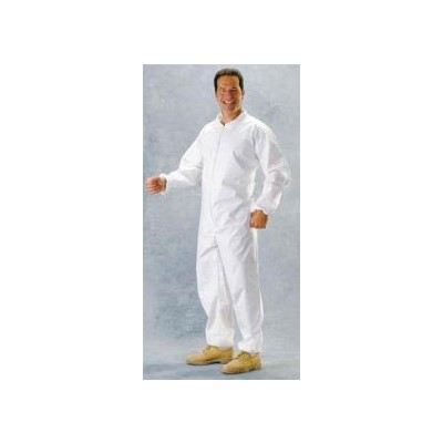 Keystone Safety CVL-NWP-E-4XL - Laminated Polypropylene Coverall - Zipper Front - Elastic Wrists & Ankles - Cleanroom Class 7 - 4X-Large - White - 25/Case