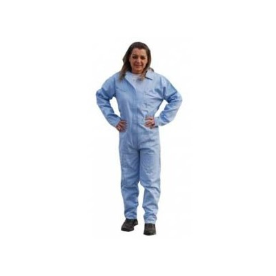 Keystone Safety CVLSMSREG-O-BL-4XL - SMS Coverall - Zipper Front - Open Wrists & Ankles - Cleanroom Class 7 - 4X-Large - Blue - 25/Case