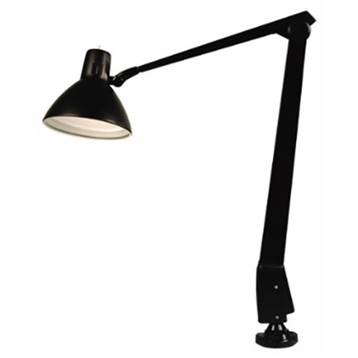 "Dazor 603-BK - CFL/Incandescent Lamp w/Floating Arm - 41"" Reach - Clamp Base - Black"