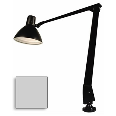 "Dazor 603-DG - CFL/Incandescent Lamp w/Floating Arm - 41"" Reach - Clamp Base - Dove Gray"
