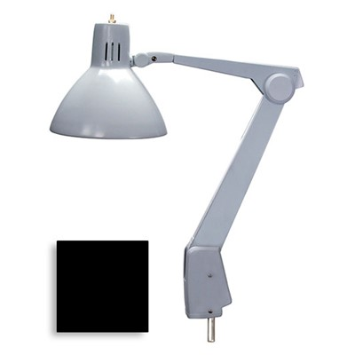 "Dazor 605A-BK - CFL/Incandescent Lamp w/Floating Arm - 41"" Reach - Pivot Only - Black"