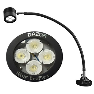 "Dazor LED-FA35CM-BK - EcoFlex LED Lamp w/Clamp Base - 25"" Reach - Dimmable Switch - 14W - Black"