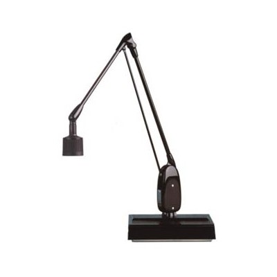 "Dazor 6324-BK - 20W Halogen Lamp w/Desk Base - 28"" Reach - On/Off Switch - Black"
