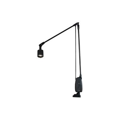 "Dazor 6134-BK - 20W Halogen Lamp w/Clamp Base - 38"" Reach - On/Off Switch - Black"