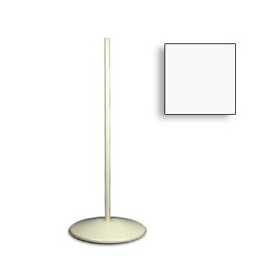"Dazor 3050R-WH - Weighted Pedestal Floor Stand - Metal - 38.5"" - White"