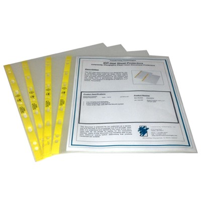 "Transforming Technologies DC1185.IDP - Permanently Static Dissipative Sheet Protector - 8.6"" x 11.25"" - 100/Pack"