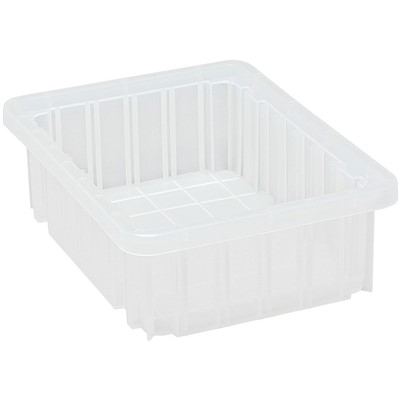 "Quantum Storage Systems DG91035CL - Clear-View Series Dividable Grid Container - 10.875"" x 8.25"" x 3.5"" - 20/Carton"