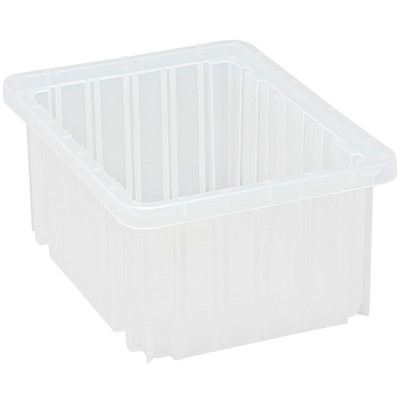"Quantum Storage Systems DG91050CL - Clear-View Series Dividable Grid Container - 10.875"" x 8.25"" x 5"" - 20/Carton"