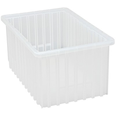 "Quantum Storage Systems DG92080CL - Clear-View Series Dividable Grid Container - 16.5"" x 10.875"" x 8"" - 8/Carton"