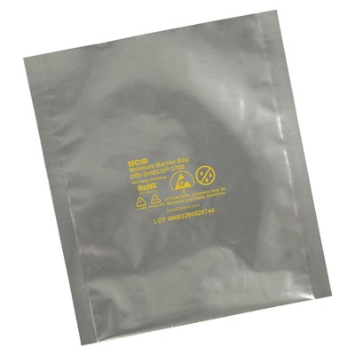 "SCS D3710.518 - Dri-Shield 3700 Series Moisture Barrier Bag - Open Top - 10.5"" x 18"" - 100/Each"