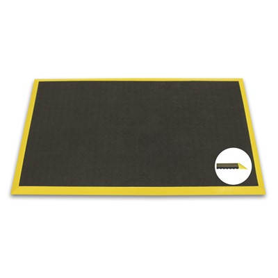 "Ergomat BBD0305-YB - Ergomat Basic Bubble Down w/2"" Yellow Bevels Matting - 3"