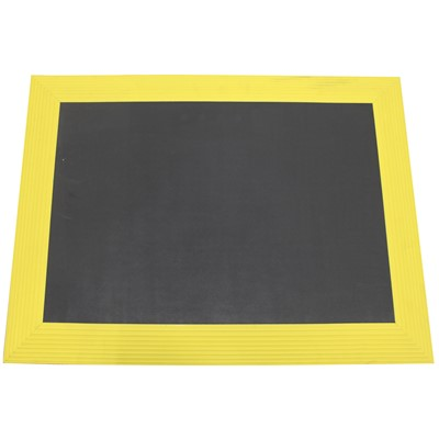 "Ergomat BD0327-YB - Ergomat Bubble Down w/2"" Yellow Bevels Matting - 3"