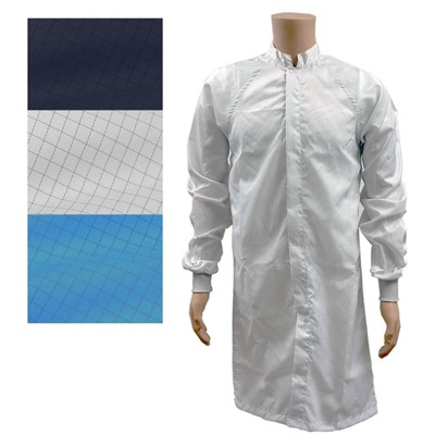 Transforming Technologies JLM6204LB - ESD Cleanroom Frock - Light Blue - Large