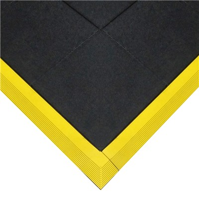 Transforming Technologies FM8RM - TileStat ESD Anti-Fatigue Side Ramp for Male Edge - Yellow