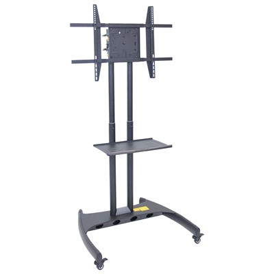 "Luxor/H Wilson FP3500 - Adjustable Height Rotating LCD TV Stand & Mount - 28"" x 32"" x 46""-62"" - Black"