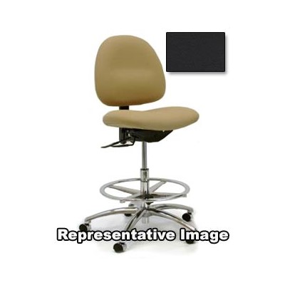 "Gibo/Kodama C3300AT-V557-01 - Stamina 3000 Series Class 100 Cleanroom Mid-Bench Height Chair - Autonomous Control - 22""-29"" - Vinyl - Black"