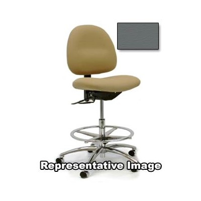 "Gibo/Kodama C3300AT-V569-01 - Stamina 3000 Series Class 100 Cleanroom Mid-Bench Height Chair - Autonomous Control - 22""-29"" - Vinyl - Grey"