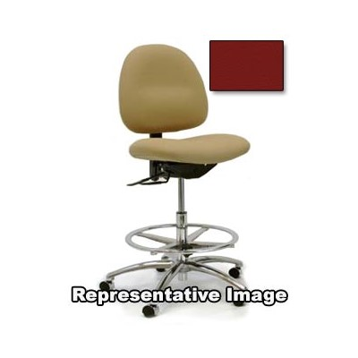 "Gibo/Kodama C3400AT-V552-01 - Stamina 3000 Series Class 100 Cleanroom Mid-Bench Height Chair - Autonomous Control - 19""-25"" - Vinyl - Red"