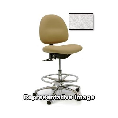 "Gibo/Kodama C3400AT-V536-01 - Stamina 3000 Series Class 100 Cleanroom Mid-Bench Height Chair - Autonomous Control - 19""-25"" - Vinyl - White"