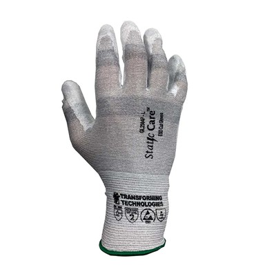 Transforming Technologies StaticCare GL2500 Series ESD Cut-Resistant Gloves - Palm Coated - 12/Pack