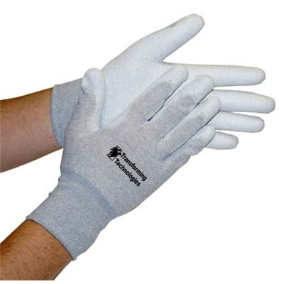"Transforming Technologies GL4504P - GL4500 Series Palm Coated ESD Inspection Gloves - Large - 8.5"" - 12/Pack"
