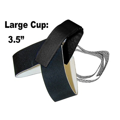 "Transforming Technologies HG1360XL - Stretch Velcro Heel Grounder - 1.25"" Cup - 1 Meg - XL Size - Black"