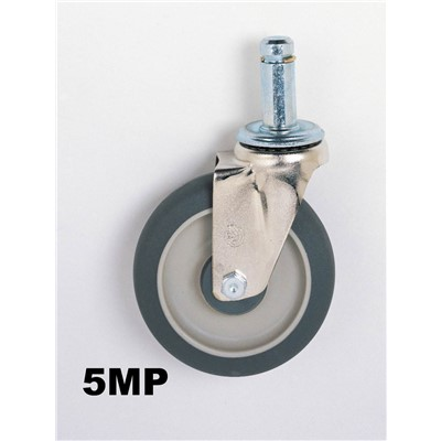 InterMetro Industries (Metro) 5MP - Super Erecta® Stem/Swivel Caster - Polyurethane Wheel Tread - 5""