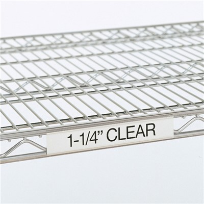 "InterMetro Industries (Metro) 9990CL4 - Super Erecta® 1.25"" Label Holder - 43"" x 1.25"" Label Size - Fits 48"" Shelf Lengths - Clear"