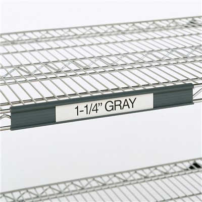 "InterMetro Industries (Metro) 9990P4 - Super Erecta® 1.25"" Label Holder - 43"" x 1.25"" Label Size - Fits 48"" Shelf Lengths - Gray"