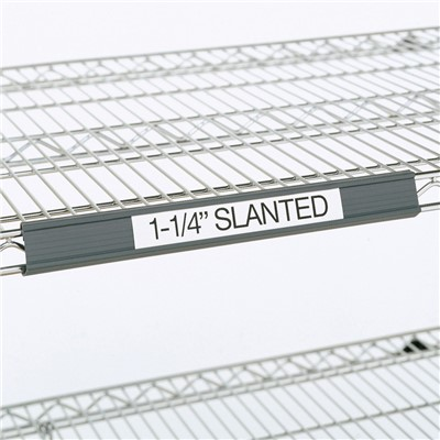 "InterMetro Industries (Metro) 9990SL4 - Super Erecta® 1.25"" Slanted Label Holder - 43"" x 1.25"" Label Size - Fits 48"" Shelf Lengths - Gray"