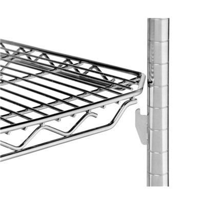 "InterMetro Industries (Metro) 1848QBR - qwikSLOT™ Wire Shelf - 18"" x 48"" - Super Erecta Brite"