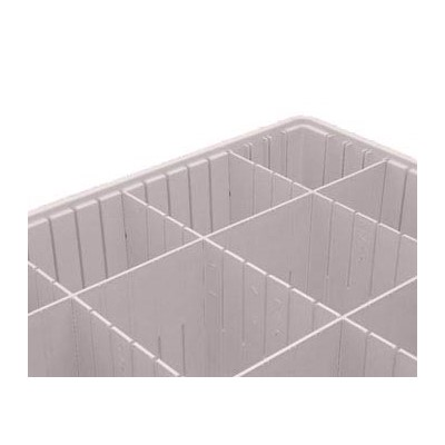 InterMetro Industries (Metro) DL93060NAT - Polypropylene Long Tote Divider - Fits Metro Divider Tote Box TB93060 - Natural Gray