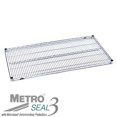 "InterMetro Industries (Metro) 1424NK3 - Super Erecta® Wire Shelf - 14"" x 24"" - Metroseal 3 w/Microban®"