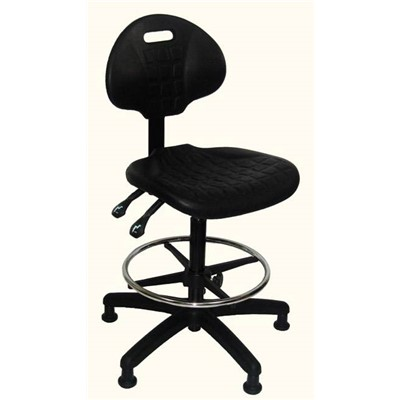 Industrial Seating PU100-ST - PU100 Polyurethane Chair - ST Dual-Lever Control - Black