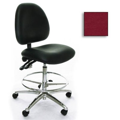 Industrial Seating AE10-ST-VCR-261 - 10 Series Bench-Height Clean Room Chair - Vinyl - Burgundy