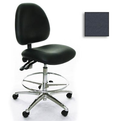 Industrial Seating AE10-ST-VCR-233 - 10 Series Bench-Height Clean Room Chair - Vinyl - Dark Gray