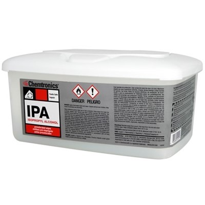 Chemtronics SIP91P - IPA Presaturated Wipes - 91% IPA - 6 Tubs/Case