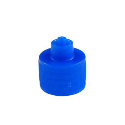 Jensen Global JGC-512B - Luer Lock Cap for 1 oz/2 oz/4 oz Bottles - Blue