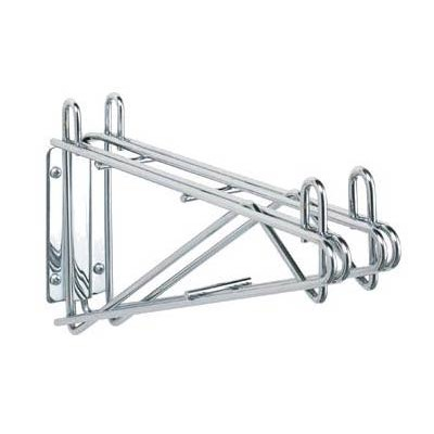 "Olympic Storage Co. J2WD24C - 24"" Double Wall Mount Bracket for Adjoining Shelves - Chromate Finish"