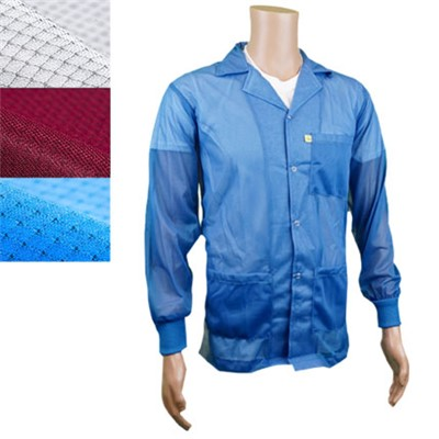 Transforming Technologies JKC8808LB - ESD Jacket - Lapel Collar - Knit Cuff - Light Blue - 4X-Large