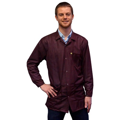 Transforming Technologies 9010 Series ESD Jackets - Collared - Snap Cuff - Maroon
