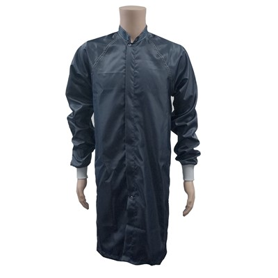 Transforming%20Technologies%20JLM%20ESD%20Cleanroom%20Frock%20w%2FESD%20Knit%20Cuffs%20-%20Navy%20Blue